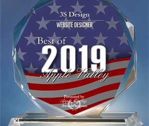3S Design receives Best Web Designer in Apple Valley 2019 Award!